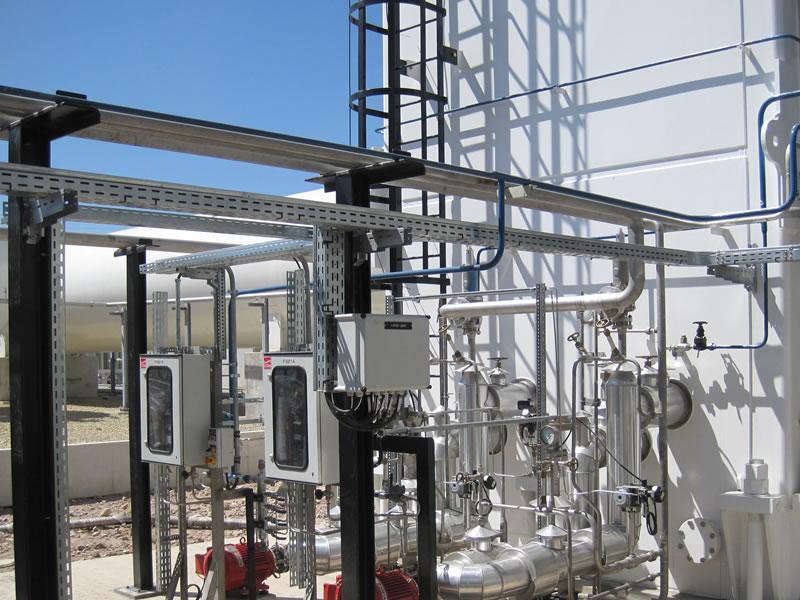 costruzione di un impianto oil e gas